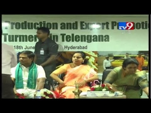 Turmeric board Workshop LIVE || TRS Kavitha ||  Hyderabad - TV9