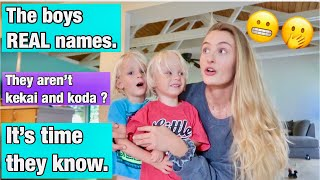 FINALLY telling our twins their REAL names!
