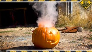 Carve a Perfect Pumpkin In One Second With SCIENCE
