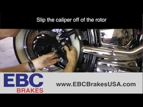 How To Replace Rear Brake Pads On Yamaha V-Star 1100 (EBC Brakes)