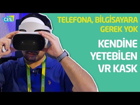 Bilgisayar ve telefon gerektirmeyen VR kaskı