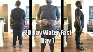 20 Day Water Fast | Day 1 - A Minor Setback |The Gauntlet Series