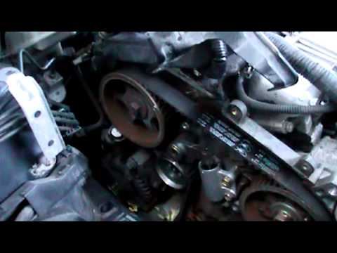 Toyota avensis D4D  2 litre diesel timing belt installation