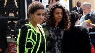 Tina Kunakey and Zakari Kunakey - Balmain Menswear Fashion Show in Paris - June 24th 2018