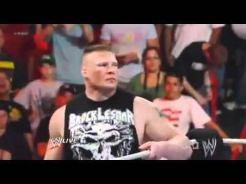 Brock Lesnar Returns to WWE Raw 4/2/12