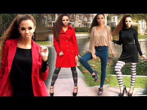 How to Wear Leggings!  What to Wear With Leggings - Leggings as Pants