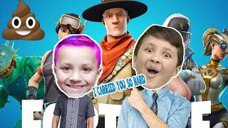 I CARRIED CHASE MY BOTHER FROM CHASES INSANE FORTNTITE VIDEOS