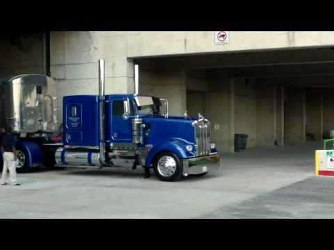 Trucks Leaving The Great American Trucking Show 2013