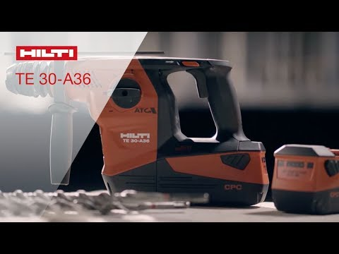 DEMO of the Hilti TE 30-A36 Cordless Combihammer
