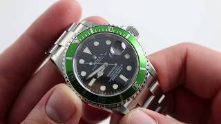 "Rolex ""Kermit"" - Oyster Perpetual Submariner Date 50th Anniversary Edition Ref. 16610LV Watch Review"