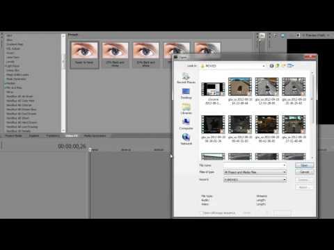 Как сделать затемнение sony vegas 13