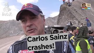 Stage 4 - Top moment: Carlos Sainz crashes! - Dakar 2017