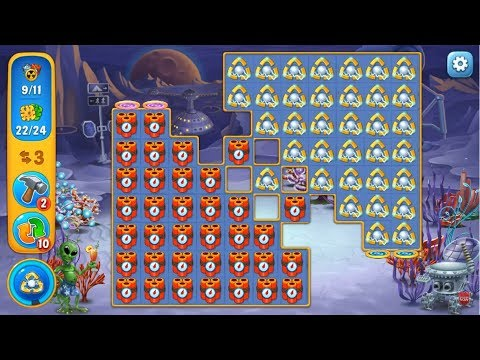 Fishdom HARD level 746 Gameplay (iOS Android)