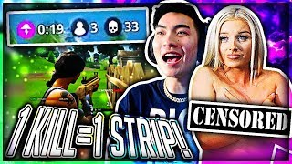 1 KILL = REMOVE 1 CLOTHING PIECE ON FORTNITE (BEST ONE YET) #3