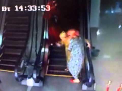 Escaleras - Caídas en la escalera mecánica