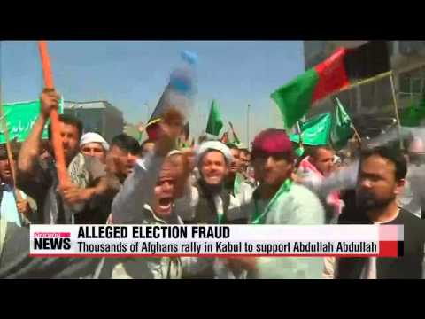 Thousands protest election fraud in Afghanistan amid Taliban conflict