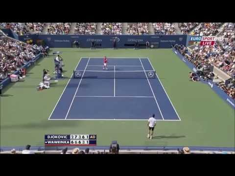 Novak Djokovic Vs Stanislas Wawrinka US Open 2013 Semi Finals Highlights HD7