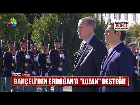 """Bahçeli'den Erdoğan'a """"Lozan"""" desteği!"""