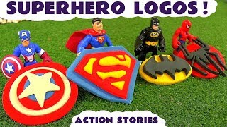 Superhero Spiderman Batman & Superman Playdoh Logo Surprise Thomas The Tank Engine  Story TT4U
