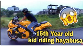15 Year Old Kid Riding Hayabusa | Youngest Hayabusa Rider | His Dream Came True 😍