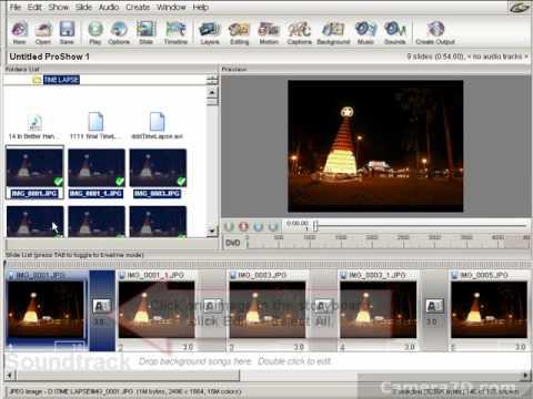 Canon 5D 7D EOS Utility Timelapse Tutorial + ProShow Gold