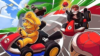 WE BEAT A HACKER IN MARIO KART?!?
