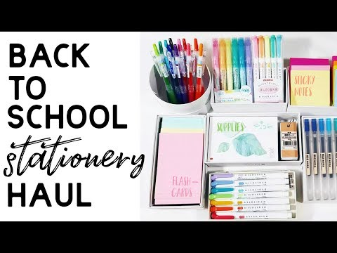 Back To School stationery & supplies haul
