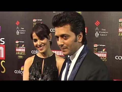 Hot katrina kaif  Ritesh Deshmukh & Genelia screen awards