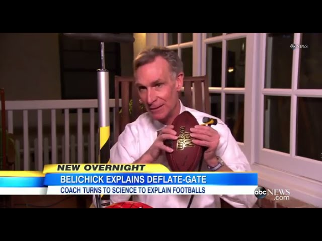 "Bill Nye ""The Science Guy"" Refutes Bill Belichick's 'Deflate-Gate' Explanation"