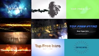 "Top 10 Free Intro Templates ""Sony Vegas Intro Template"" Download + No Plugins"