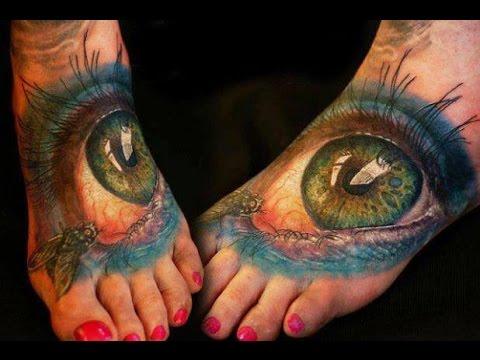 Amazing 3D Tattoo Ideas-Best Body Painting Tattoos-3D Art Illusions!![part2]