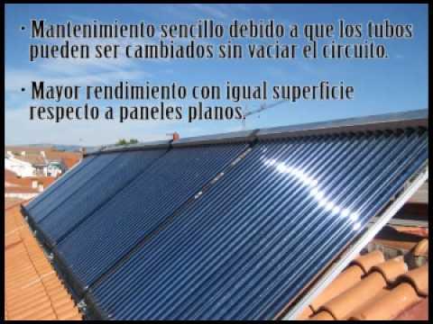 Placas solares termicas tubos de vacio