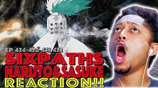 Six Paths Naruto & Rinnegan Sasuke vs Madara First Time Watching Naruto Shippuden 424 - 426 451 452