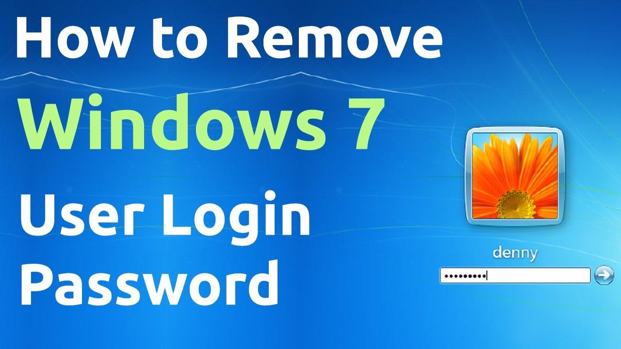 How to Remove Windows 7 User Login Password - YouTube