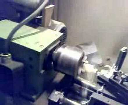 DIY CNC lathe doing ball-shaped part