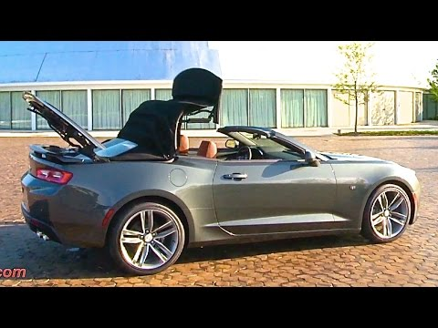 chevy camaro 2016 rs convertible roof in action chevrolet