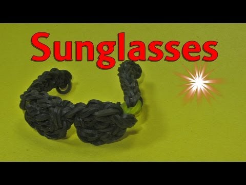 Rainbow Loom Charms: Sunglasses: How to Design (DIY Mommy)