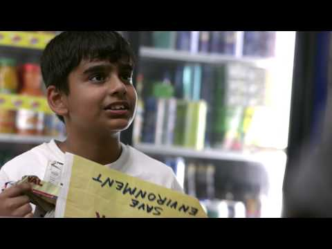 Paper Bag Boy of Abu Dhabi, UN Climate Change Conference Doha 2012.