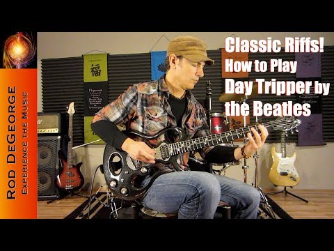 Classic Riffs Guitar Lesson/Tutorial How to play Day Tripper by the Beatles