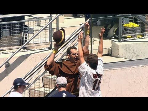 Will Venable's solo shot missed by friar fan June 16 2013