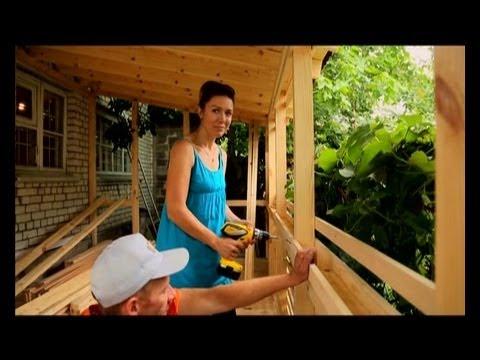 Видео как построить веранду