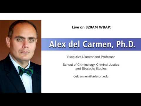 Dr. Alex del Carmen discusses the downtown Dallas shooting live on the radio in Dallas/Fort Worth