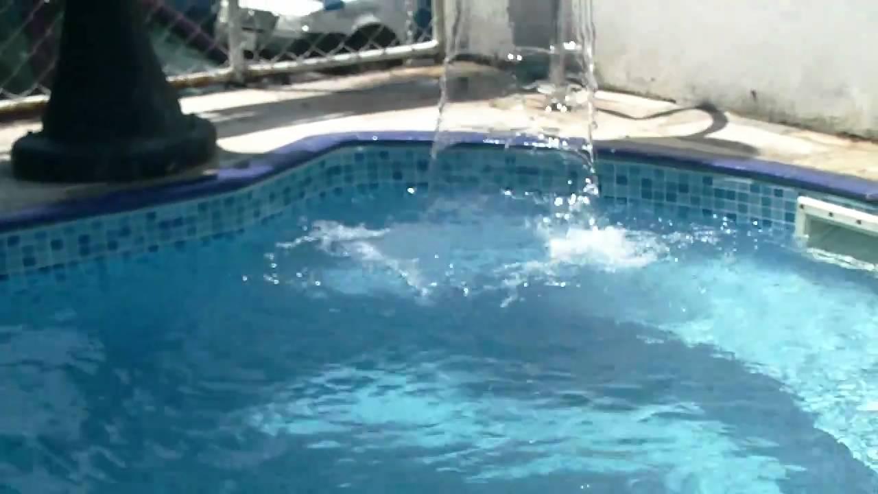Cascata na piscina youtube - Piscina a cascata ...