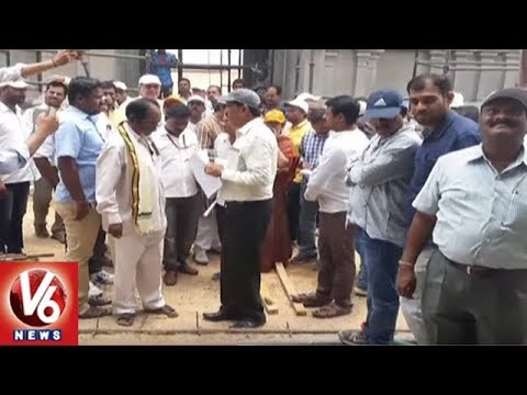 CMO Special Secretary Bhupal Reddy Inspects Yadadri Temple Development Works | V6 News