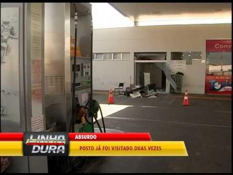 Criminosos explodem cofre de posto de combustíveis no Jardim das Palmeiras