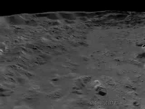 3D Images of Tycho Crater at South on the Moon. ティコ・クレーター/Terrain Camera - KAGUYA