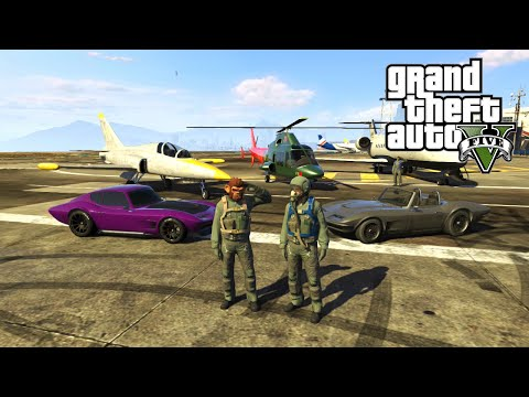 GTA 5 Online San Andreas Flight School, Fully Customized Coquette Classic and New Besra Jet