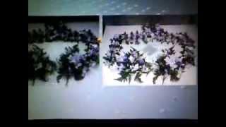 CAMARON COLECCIÓN.   coronas y ramos para cementerio de flor artificial.
