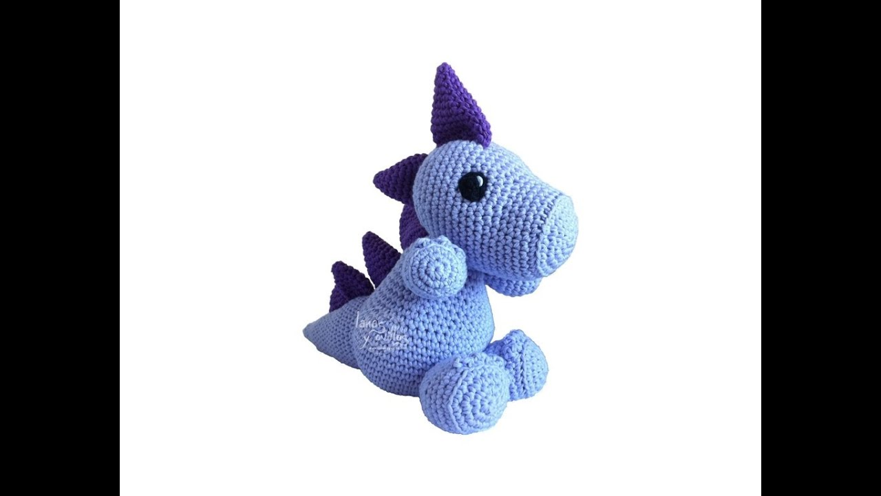 Tutorial Dragon Amigurumi 2-3 (English subtitles) - YouTube