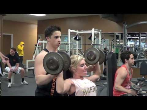 100lbs Dumbbell Shoulder Press Attempt Image 1